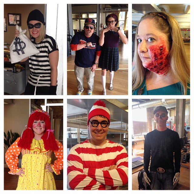 Just a few of the fun costumes around the office today. Who will win the costume contest?!