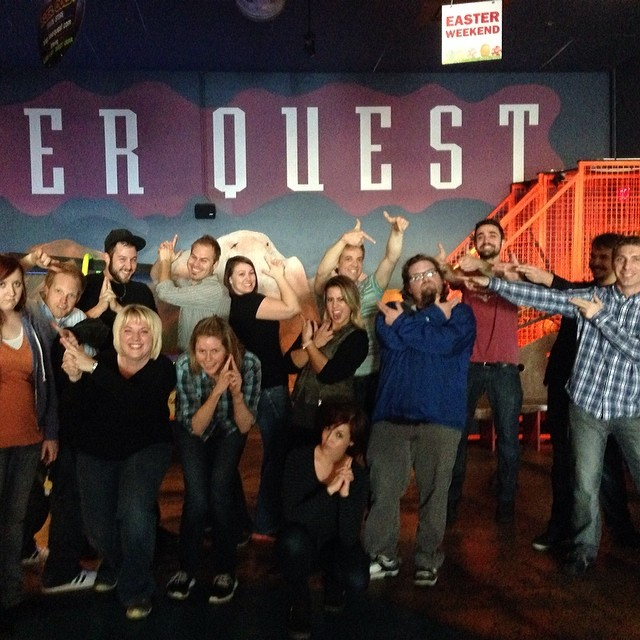 Neutron peeps enjoying some laser tag! #neutroninteractive