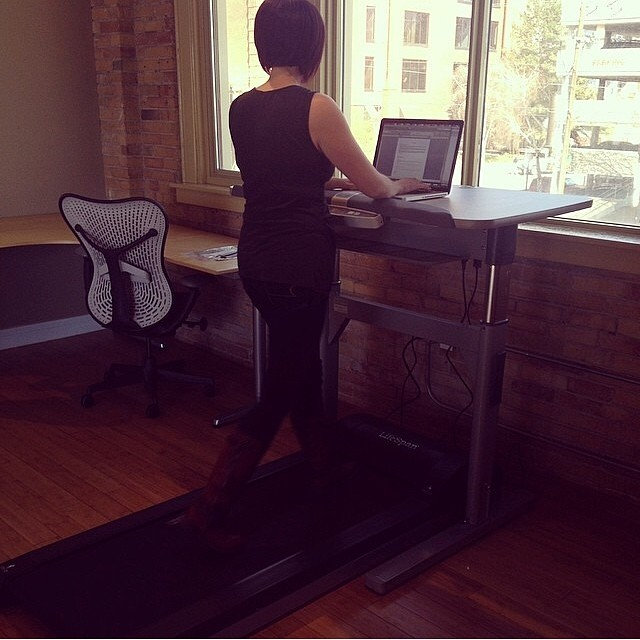 At Neutron you can choose to sit and work, stand and work, or walk and work! The treadmill desk is here! #neutroninteractive