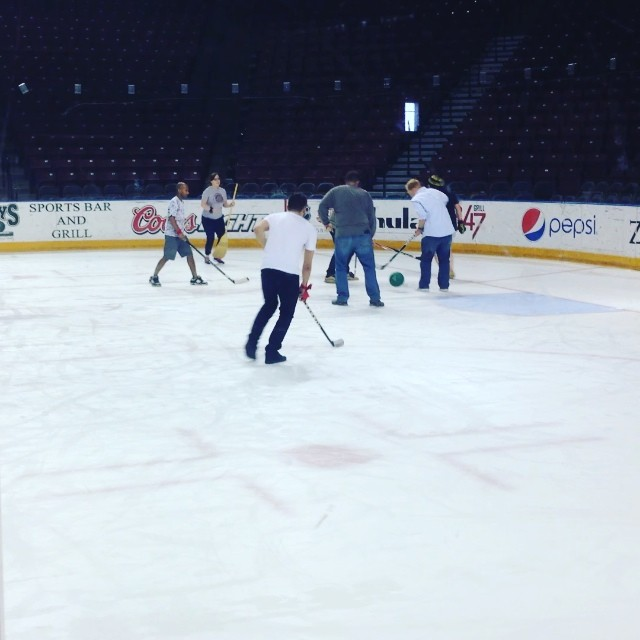 Neutron in action on the ice! So.Much.Fun.